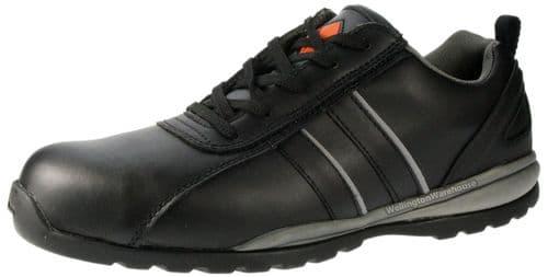 ET Safety C3380 Lace up Black Leather Steel toecap SB trainers